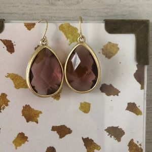 Faux stone statement earrings